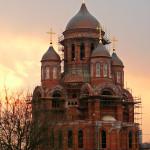Храм в Солнцево на закате