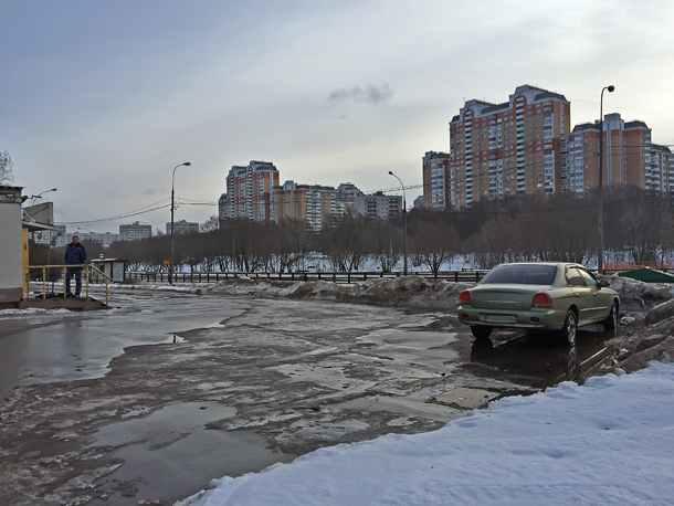 Боровское шоссе, стоянка