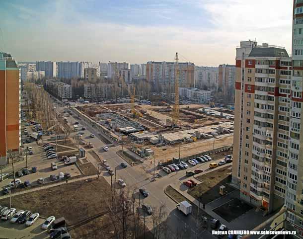 Новостройка на улице Главмосстроя
