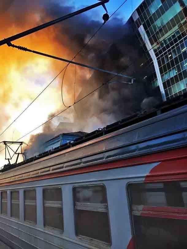 Киевский вокзал, Пожар
