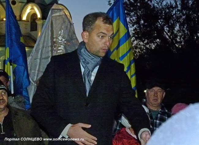 Салов, митинг