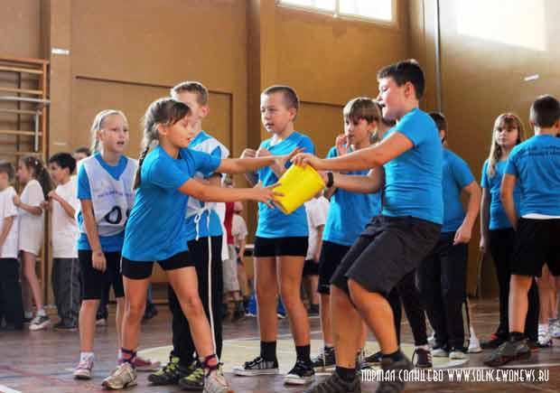 Спорт, школа, эстафета