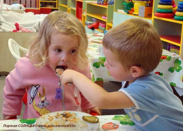 Дети, еда, детский сад