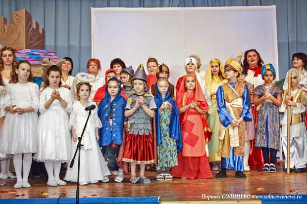 Дети, святки, спектакль
