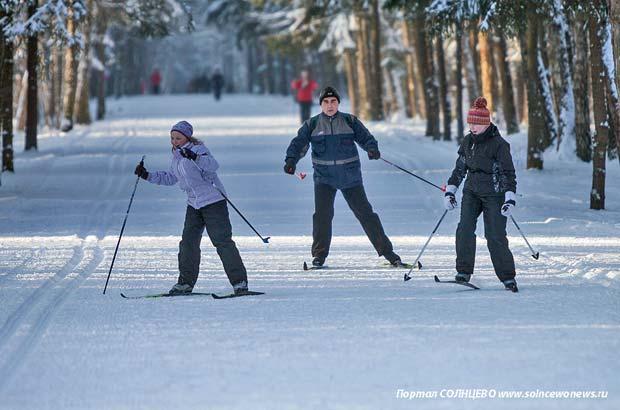 Лыжня, лыжная гонка, спорт, парк Мещерский