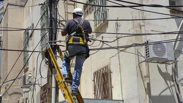 электрик, кабель, электричество