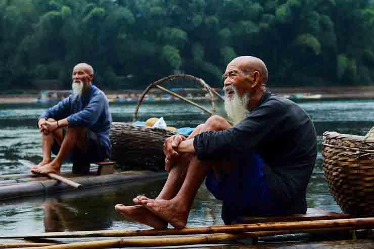 китай, рыбак