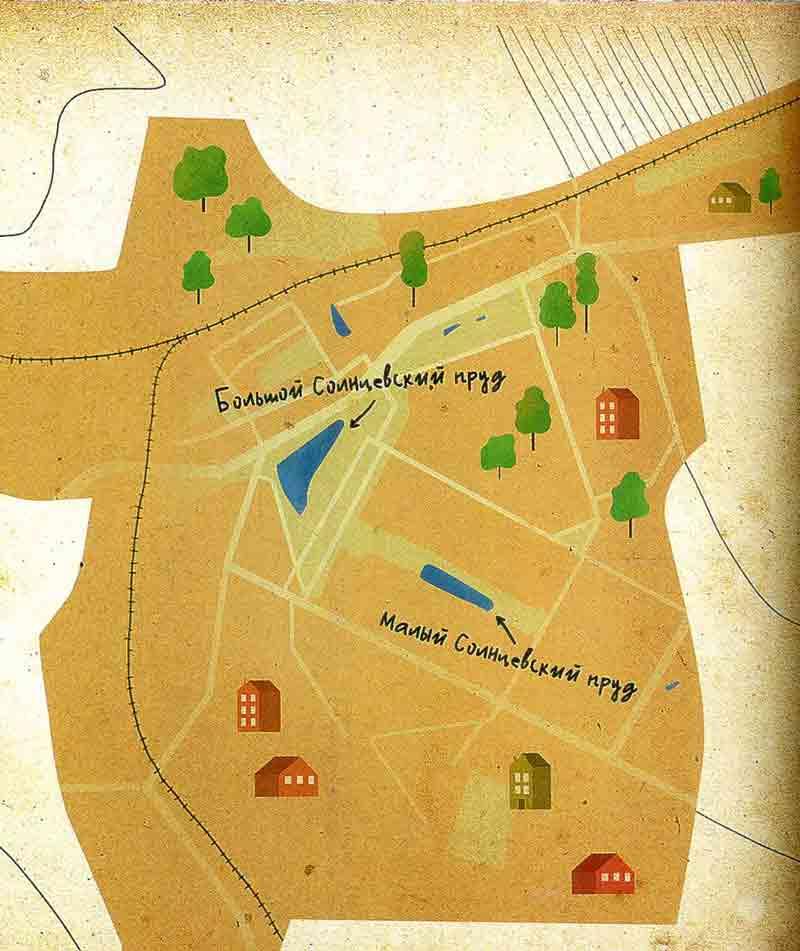 Карта пруды в Солнцево