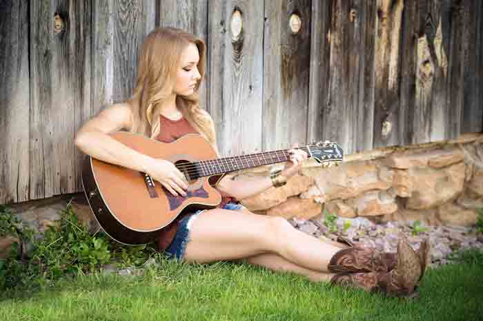 музыка, певица, девочка, гитара