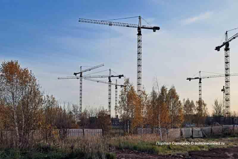 Стройка, реновация, башенный кран